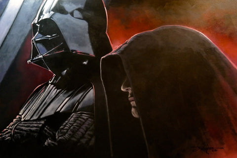 "Rodel Gonzalez Star Wars ""Vader and the Emperor"" Limited Edition Canvas Giclee"