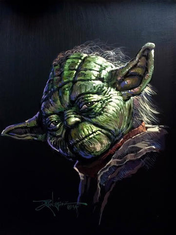 "Rodel Gonzalez Star Wars ""Yoda"" Limited Edition Canvas Giclee"