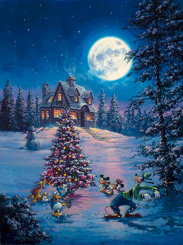 "Rodel Gonzalez Disney ""Winter Lights"" Limited Edition Canvas Giclee"