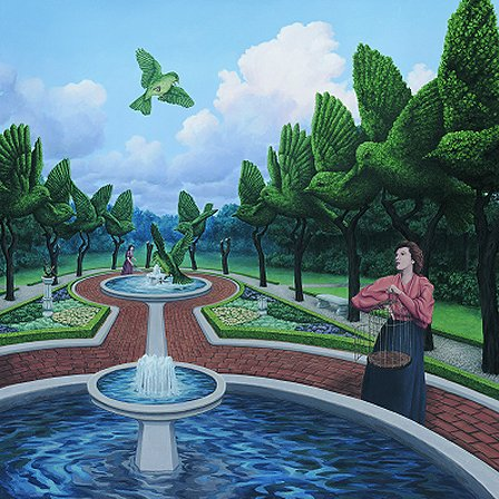 "Rob Gonsalves Rob Gonsalves- ""Roots and Wings""-Giclée on Paper  6""  x  6""  Limited 395 Paper"
