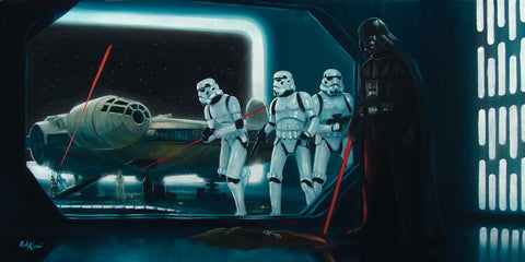 "Star Wars-"" Fallen Jedi "" Giclee Canvas 12"" by 36""  Limited-195 PRICING 1-866-254-6523 - Art Center Gallery"