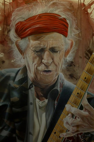 "Stickman ""A Man of Wealth and Taste"" (Keith Richards) Limited Edition Canvas Giclee"