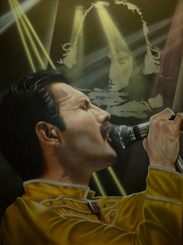 "Stickman ""Look Up to the Skies and See"" (Freddie Mercury) Limited Edition Canvas Giclee"