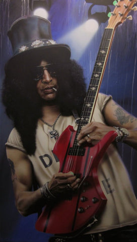 "Stickman ""On the Nightrain"" (Saul ""Slash"" Hudson) Limited Edition Canvas Giclee"