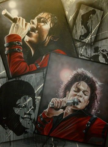 "Stickman ""The Way You Make Me Feel"" (Michael Jackson) Limited Edition Canvas Giclee"