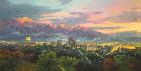 "Thomas Kinkade ""Salt Lake - City of Light"" Limited Edition Canvas Giclee"
