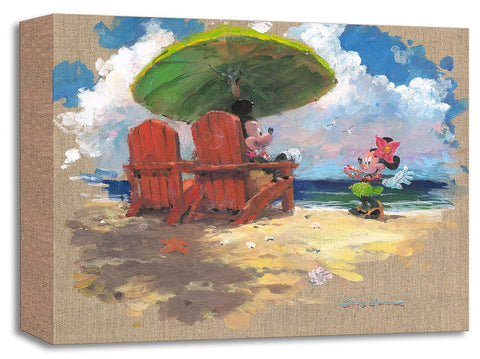 "James Coleman Disney ""Shorefront Hula"" Limited Edition Canvas Giclee"