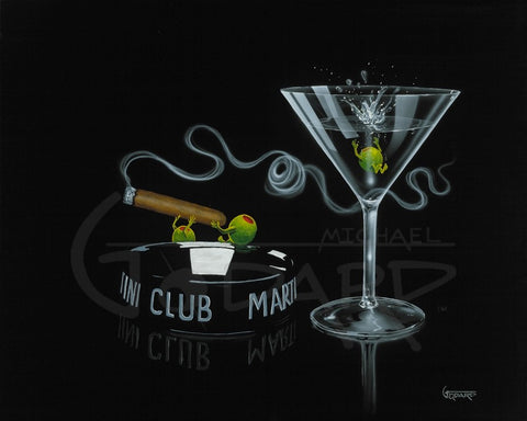 "Michael Godard ""Smoke Off at the Club"" Limited Edition Canvas Giclee"