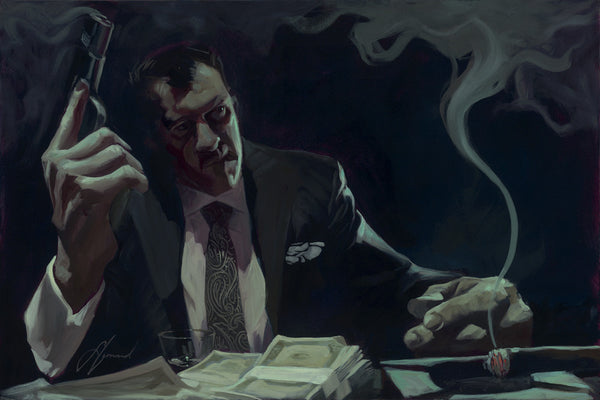 "Gabe Leonard ""Smoking Gun"" Limited Edition Canvas Giclee"