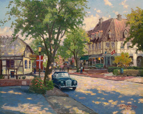 "Thomas Kinkade ""Solvang"" Limited Edition Canvas Giclee"