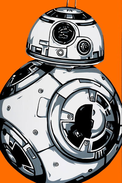 "Allison Lefcort Star Wars ""BB-8"" Limited Edition Canvas Giclee"