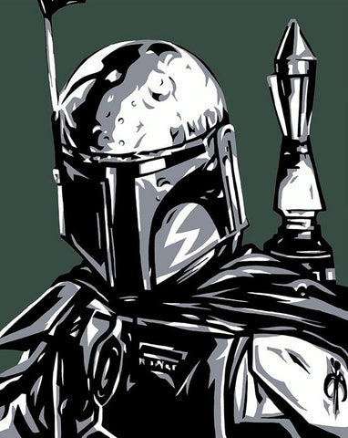 "Allison Lefcort Star Wars ""Boba Fett"" Limited Edition Canvas Giclee"