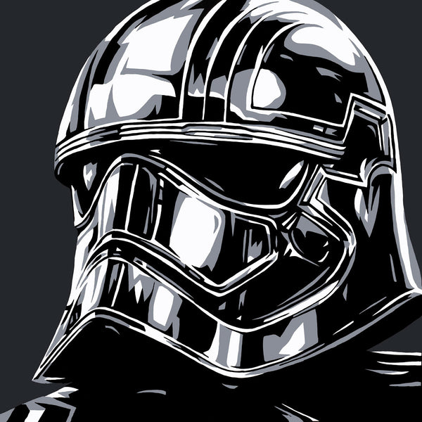 "Allison Lefcort Star Wars ""Captain Phasma"" Limited Edition Canvas Giclee"