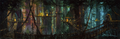 "James Coleman Star Wars ""Ewok Village"" Limited Edition Canvas Giclee"