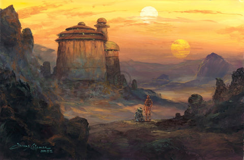 "James Coleman Star Wars ""Palace in Sight"" Limited Edition Canvas Giclee"