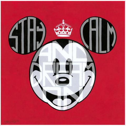"Tennessee Loveless Disney ""Stay Calm and Dream On"" Limited Edition Canvas Giclee"