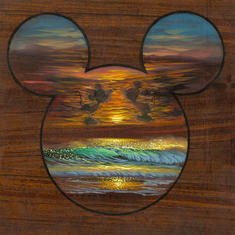 "Walfrido Garcia DIsney ""Sunset Silhouette"" Limited Edition Canvas Giclee"