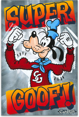 "Trevor Carlton Disney ""Super Goof"" Limited Edition Canvas Giclee"