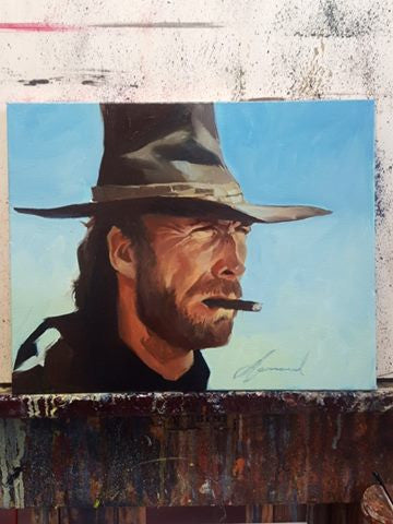 "Gabe Leonard ""The Good,The Bad & The Ugly""- 11"" by 14 ""-Limited SN Canvas Giclee 75"