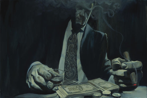 "Gabe Leonard ""The Gambler"" Limited Edition Canvas Giclee"