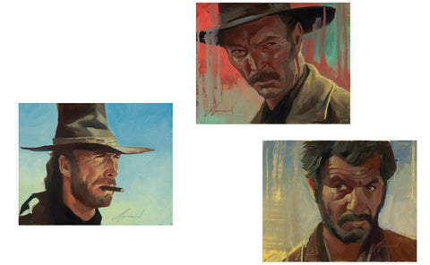 "Gabe Leonard ""The Good, The Bad & The Ugly"" Set of Three Limited Edition Canvas Giclee"