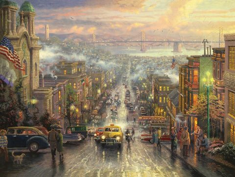 "Thomas Kinkade ""The Heart of San Francisco"" Limited Edition Canvas Giclee"