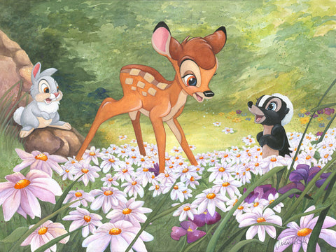 "Michelle St. Laurent Disney ""The Joy a Flower Brings"" Limited Edition Canvas Giclee"