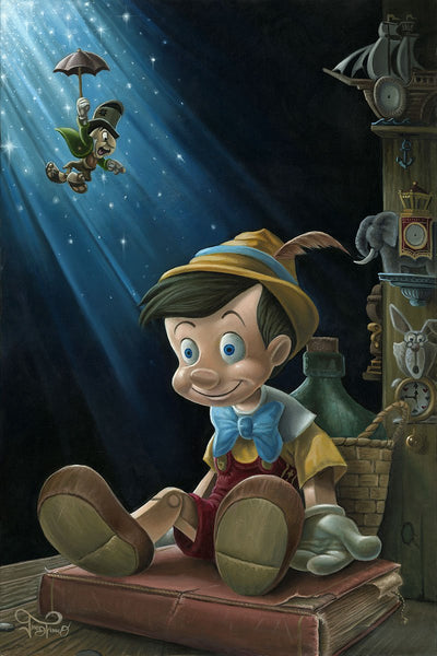 "Jared Franco Disney ""The Little Wooden Boy"" Limited Edition Canvas Giclee"