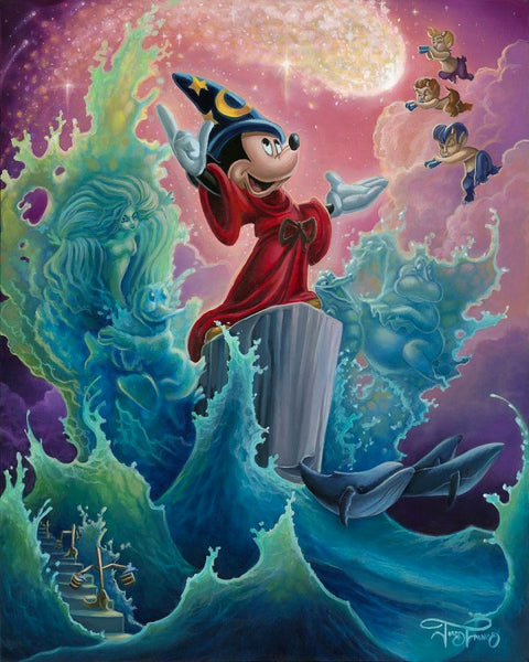 "Jared Franco Disney ""The Sorcerer's Finale"" Limited Edition Canvas Giclee"