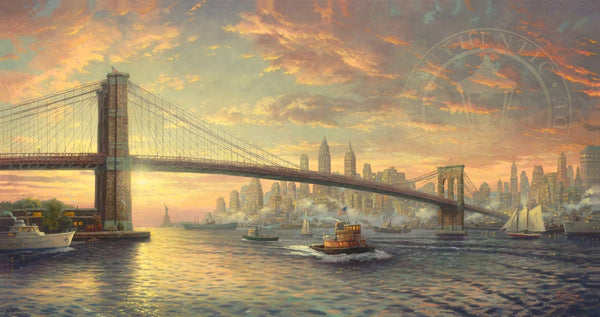 "Thomas Kinkade Studios ""The Spirit of New York"" Limited Edition Canvas Giclee"
