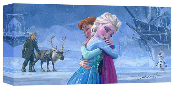 "Jim Salvati Disney ""The Warmth of Love"" Limited Edition Canvas Giclee"