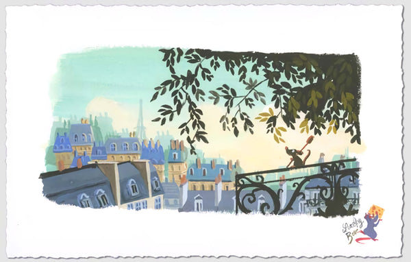 "Lorelay Bové Disney ""The Flavor of Paris"" Limited Edition Paper Giclee"