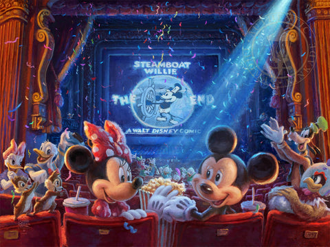 "Thomas Kinkade Studios ""90 Years of Mickey"" Limited Edition Canvas Giclee"