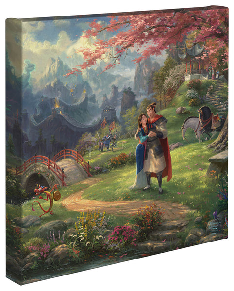 "Thomas Kinkade Disney Dreams ""Mulan Blossoms of Love"" Canvas Giclee"