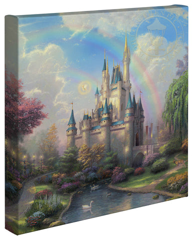 "Thomas Kinkade Disney Dreams ""A New Day at the Cinderella Castle"" Limited and Open Canvas Giclee"