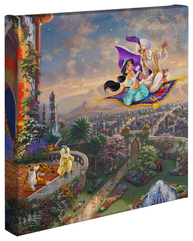 "Thomas Kinkade Disney Dreams ""Aladdin"" Canvas Giclee"
