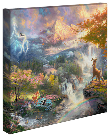"Thomas Kinkade Disney Dreams ""Bambi's First Year"" Open Edition Canvas Giclee"