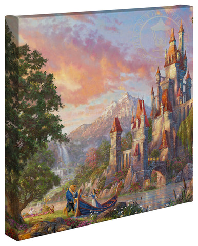 "Thomas Kinkade Disney Dreams ""Beauty and the Beast II"" Limited and Open Canvas Giclee"