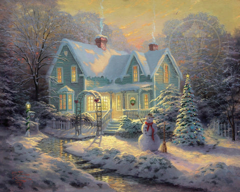 "Thomas Kinkade ""Blessings of Christmas"" Limited Edition Canvas Giclee"