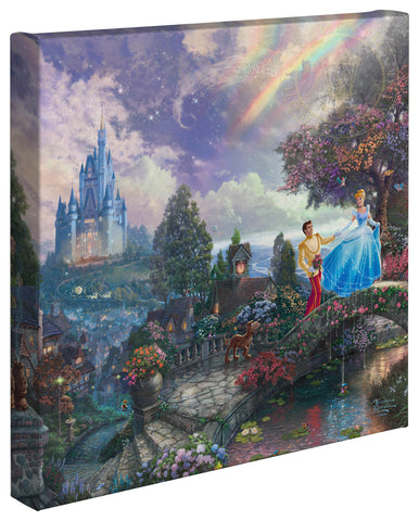 "Thomas Kinkade Disney Dreams ""Cinderella Wishes Upon a Dream"" Canvas Giclee"