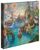 "Thomas Kinkade Studios ""Disney Peter Pan's Neverland"" Limited and Open Canvas Giclee"