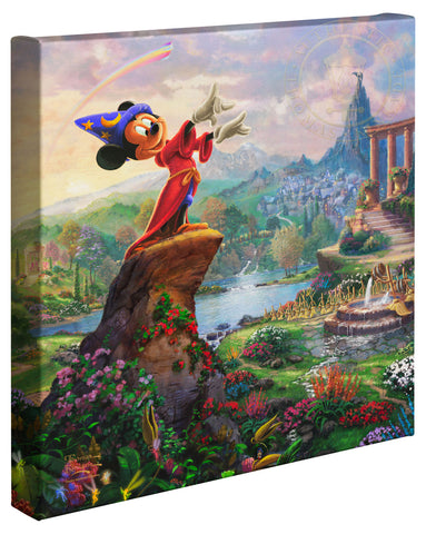 "Thomas Kinkade Disney Dreams ""Fantasia"" Limited and Open Canvas Giclee"