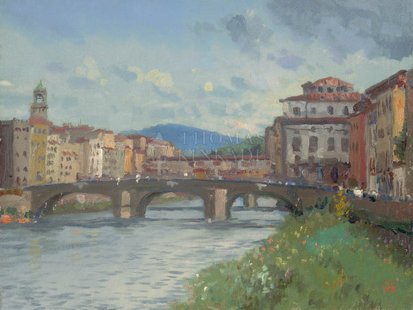 "Thomas Kinkade ""Florence - River Alba"" Limited Edition Canvas Giclee"