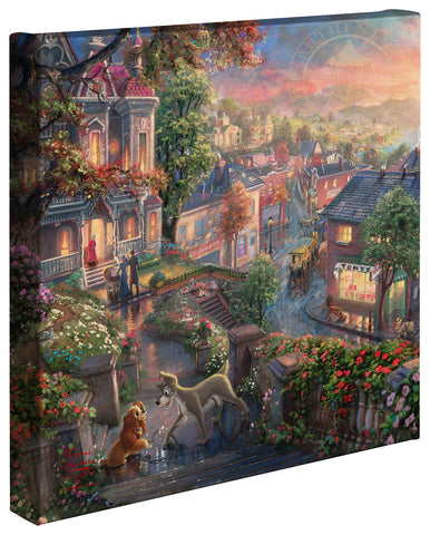 "Thomas Kinkade Disney Dreams ""Lady and the Tramp"" Limited and Open Canvas Giclee"