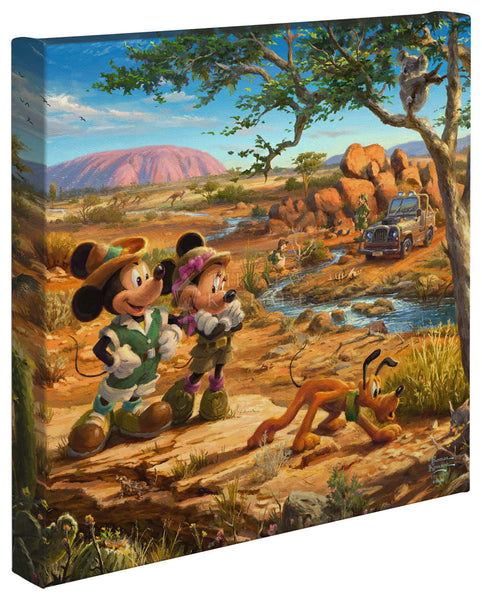"Thomas Kinkade Studios ""Mickey and Minnie in the Outback"" Limited and Open Canvas Giclee"