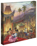 "Thomas Kinkade Studios ""Mickey and Minnie in Hollywood"" Limited and Open Canvas Giclee"