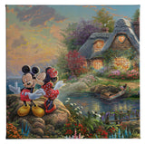 "Thomas Kinkade Studios ""Mickey and Minnie Sweetheart Cove"" Open Edition Canvas Giclee"