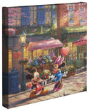 "Thomas Kinkade Studios ""Mickey and Minnie Sweetheart Cafe"" Limited and Open Canvas Giclee"