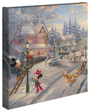 "Thomas Kinkade Studios ""Mickey's Victorian Christmas"" Limited and Open Canvas Giclee"