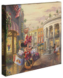 "Thomas Kinkade Studios ""Minnie Rocks the Dots on Rodeo Drive"" Limited and Open Canvas Giclee"